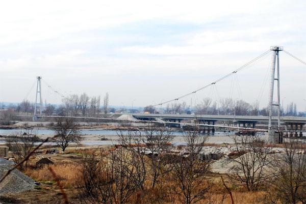 переход через реку Кубань,